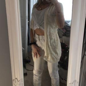 loose short sleeve cardigan